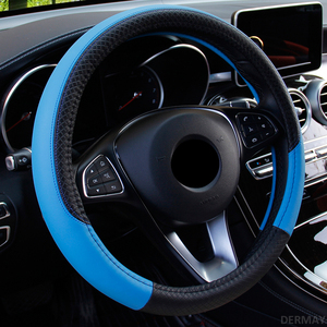 Image 5 - 2019 New Car Steering Wheel Cover for 37 38CM Leather Breathable Fabric Braid Car Steering Wheel Cover Auto Interior Accessories