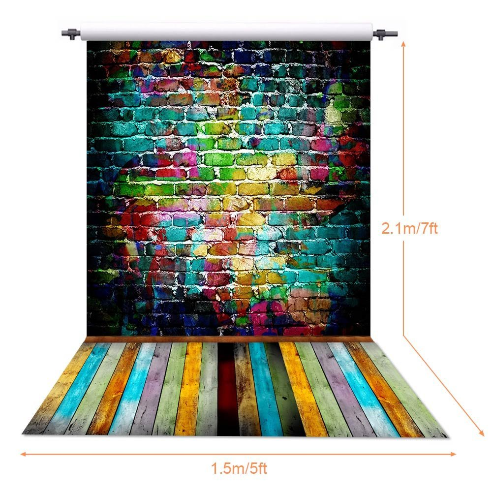 Image 2 - 150X210CM Photography studio Green Screen Chroma key Background Polyester Backdrop for Photo Studio Dark Brick YU004-in Background from Consumer Electronics