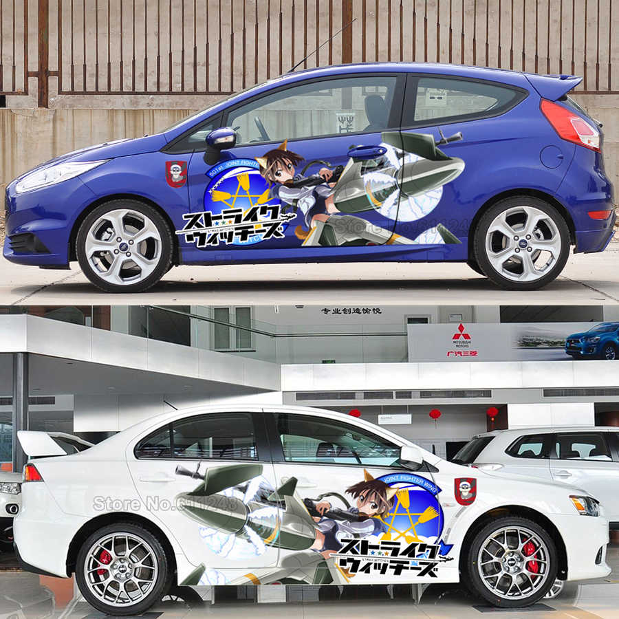 Car styling door stickers japanese anime strike witches vinyl sport sticker decals auto body racing decal