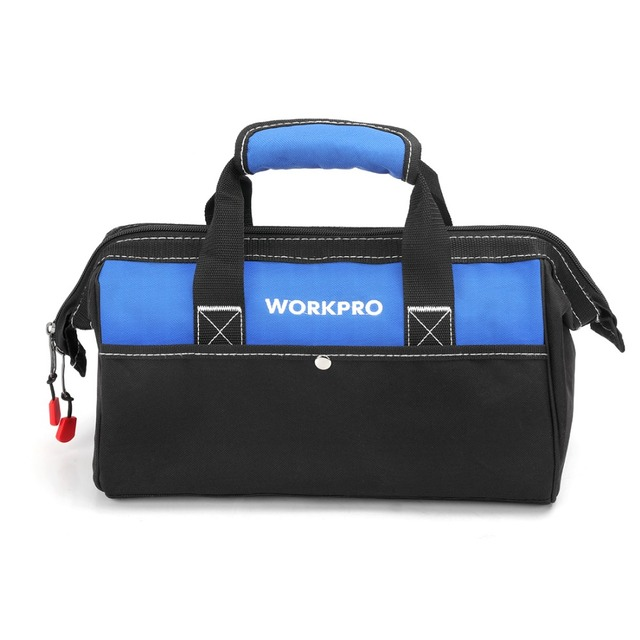 Workpro 13 Close Top Wide Mouth Storage Bag 600d Polyester Waterproof Tool