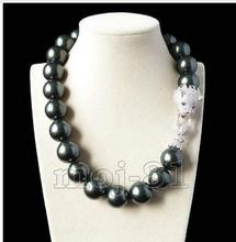 A Genuine Selling 16mm South Shell baroque peacock BLACK shell pearl necklace Jewelry Beads 925 silver wedding Women Gift a genuine selling 16mm south shell baroque peacock black shell pearl necklace jewelry beads 925 silver wedding women gift