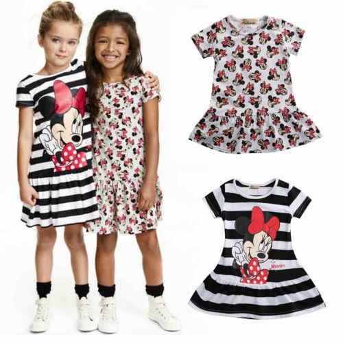 Desenhos Animados Verao Meninas Vestido Minnie Mouse Vestido