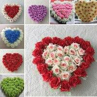 40x40 cm Yapay çiçek İpek Gül Düğün Araba Dekorasyon Kalp Şekilli Kapı Çelenk Güzel Düğün Kapı Dekorasyon Toptan
