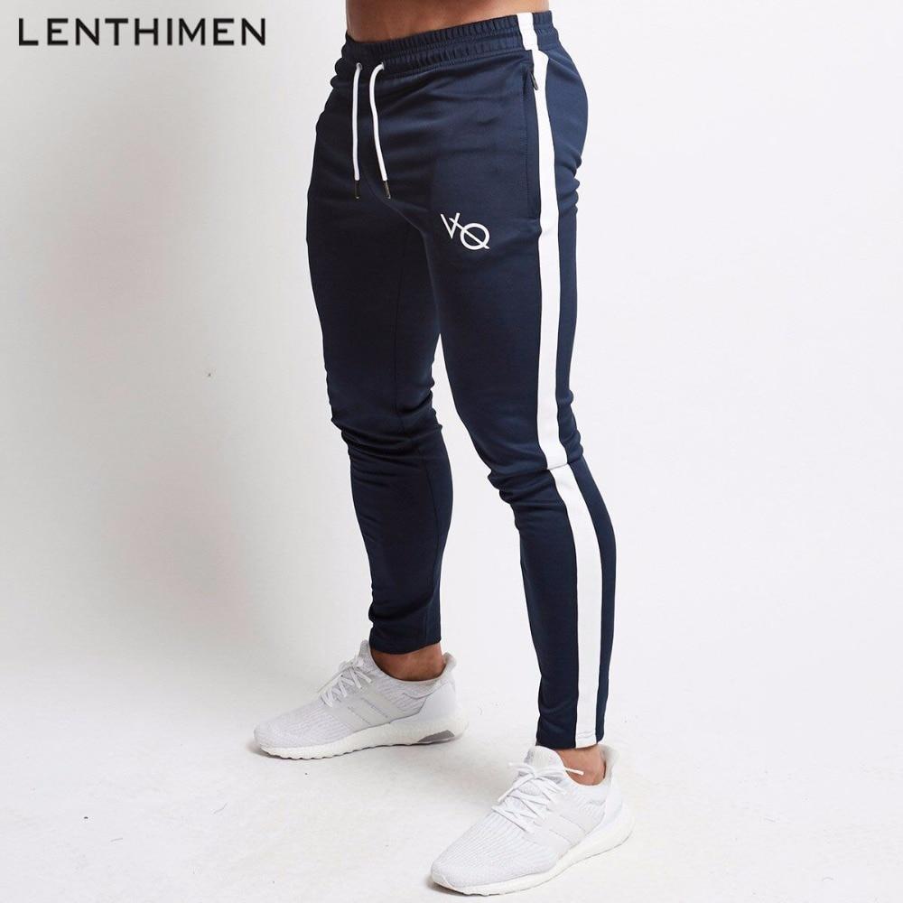 e6cc6e3d 2018 Compression Jogging Pants Men Fitness Running Tights Quick Dry Workout  Sweatpants Striped Gym Sport Leggings