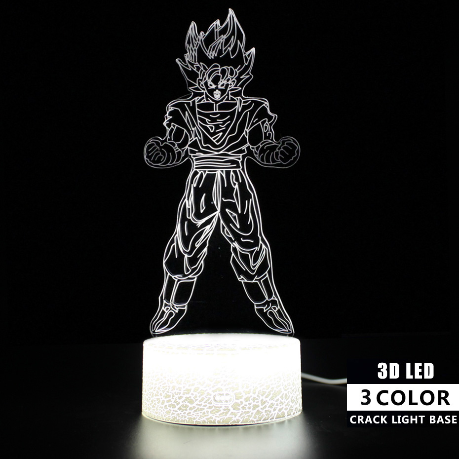 USB Touch Sensitive Light Dragon Ball Figure Goku Lamp 3d Light Remote Control Touch Table Lamp Led Night Light Illusion Lamps in LED Night Lights from Lights Lighting