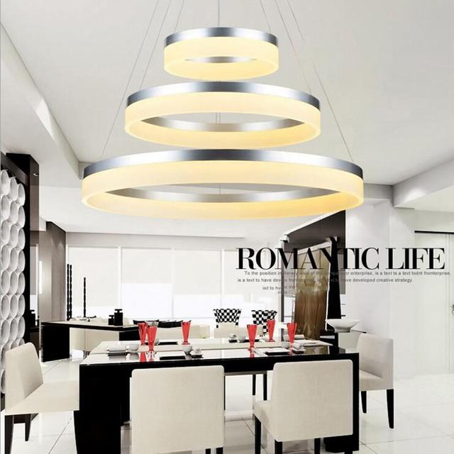 Moderne LED leben eetkamer hanglampen suspension armatuur suspendu ...