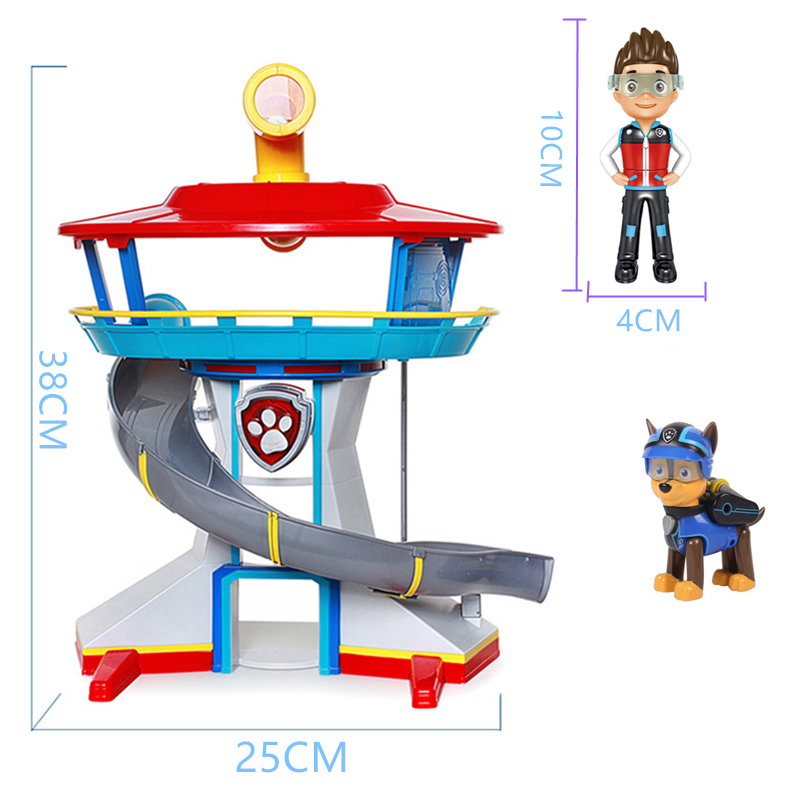 Paw-Patrol-Toys-Rescue-Base-Command-Center-Puppy-Patrol-Set-Patrulla-Canina-Anime-Action-Figures-Model (4)_副本