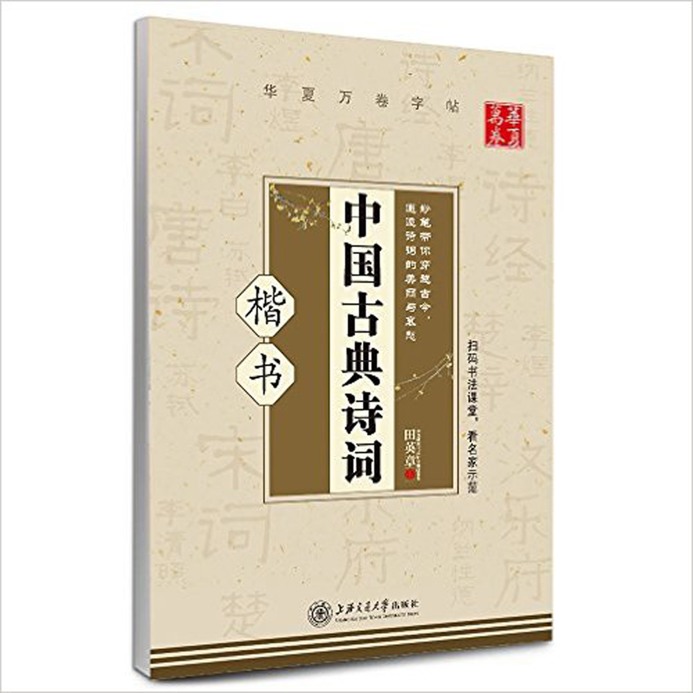 Chinese Classical Poetry By Tian Zang Ying Kai Shu Hard Pen Calligraphy Copybook Learn Writing Supplies