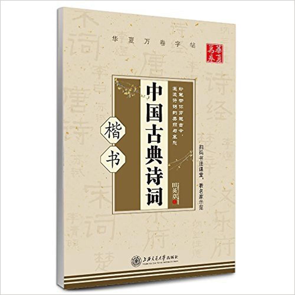 Chinese Classical Poetry By Tian Zang Ying Kai Shu Hard Pen Calligraphy Copybook Learn Writing Supplies