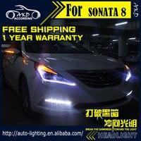 AKD Car Styling Headlight Assembly For Hyundai Sonata Headlights Bi Xenon LED Headlight LED DRL HID
