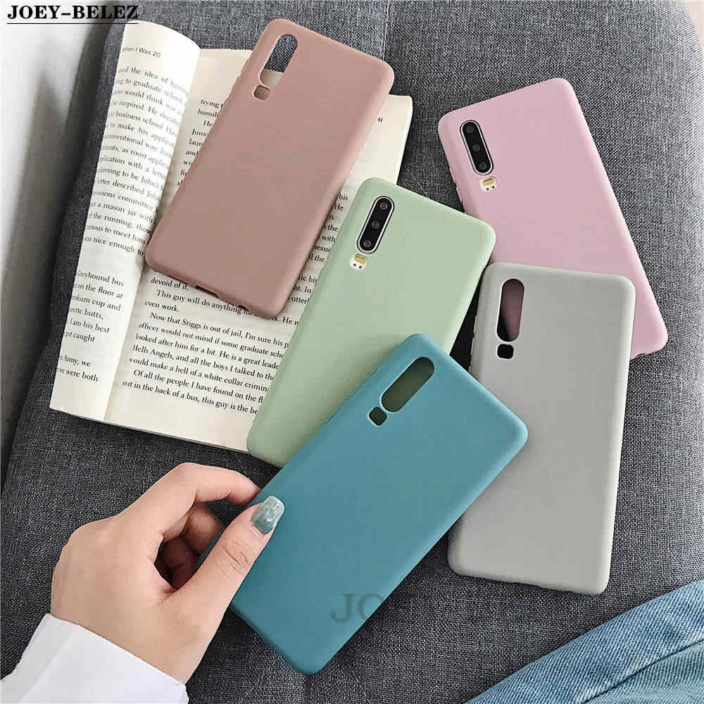 Candy Color Silicone Case on Honor 10i 9 8X 8A 8C 7A 7C Cover For Huawei P30 P20 P10 Mate 10 20 Pro lite P Smart Plus Y7 Y9 2019