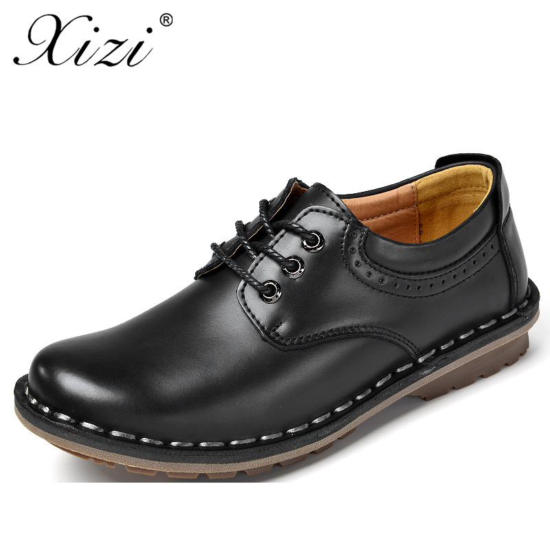 XIZI 2017 New men high quality casual leather shoes men's fashion oxfords flat loafers Male height increasing lether boat shoes size 38 43 2016 new men fashion steel head genuine leather loafers lazy height increasing casual shoes mp10