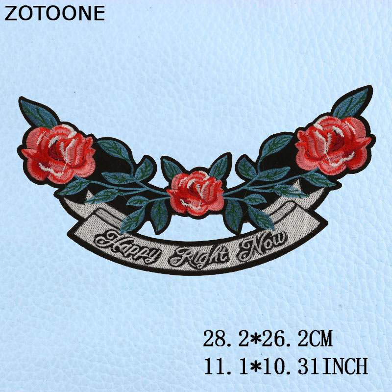 ZOTOONE New Fashion Embroidery Large Rabbit Flower Patches of Clothing DIY Craft Design Decoration Iron on Patches Applique E in Patches from Home Garden