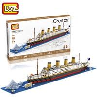 LOZ Building Blocks Toys RMS Titanic Ship 3D Building Blocks Toy Titanic Boat 3D Model Educational