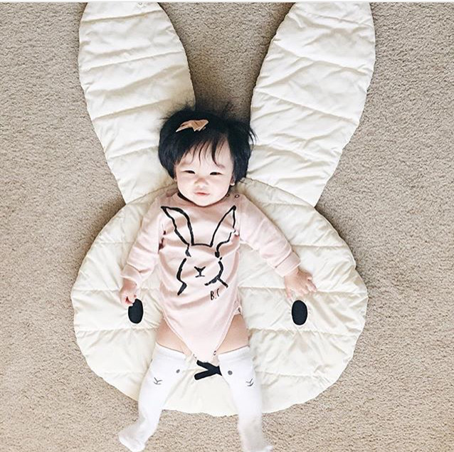 INS style cute Rabbit Playmat Blanket Baby Play Rug Baby Game Mat Children Room Decoration Creeping Mat