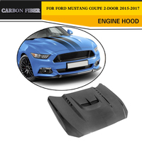 Carbon Fiber Engine Hood Auto Car Styling Bonnet for Ford Mustang Coupe Convertible 2 Door 2015 2017