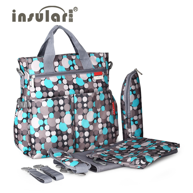 Insular Large Capacity Diaper Bag Mommy Maternity Baby Nappy Bag Nursing Bag Multifunctional Backpack Baby Care For New Parent insular new large capacity multifunctional mummy backpack nappy bag baby diaper bags mommy maternity bag babies care product