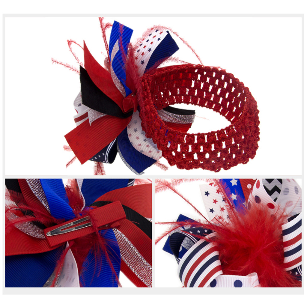 Toddler Baby Kids Giris Boys 4th Of July Hairband Flag Day Accessories