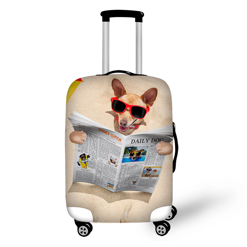 Pet cats and dogs patterns Elastic Luggage Protective Cover Zipper Suit For 18-30 inch Trunk Case Travel Suitcase Covers Bags