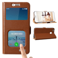 For Xiaomi Redmi 4X Invisible Magnet Genuine Leather Case For Xiaomi Redmi 4X Mobile Phone Bag