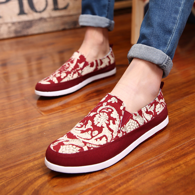 Mode Femme Chaussures Toile Impression Hommes Flat qV52VpZkfB