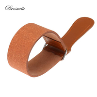 Leather shaving Strop belt For Barber Straight Razor Fold Knife Sharpening double side