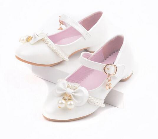Весной и летом обувь для девочек принцесса лук жемчужные повседневная обувь для девочек  ...