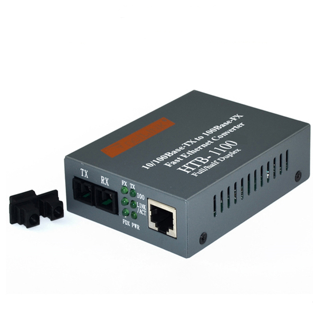 import chips! HTB-1100 Optical Fiber Media Converter Fiber Transceiver Single Fiber Converter 2km Multi-mode dual fiber 1PAIR
