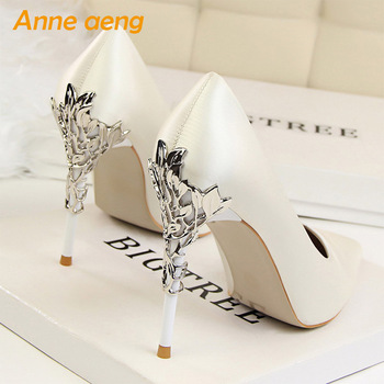 2019 New Women Pumps High Thin Heel Pointed Toe Shallow Sexy Ladies Bridal Wedding Women Shoes White High Heels Female Pumps women pumps extrem sexy high heels women shoes thin heels female shoes wedding shoes sequins gradient color hollow ladies shoes