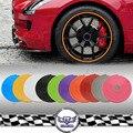 Universal 8 m/Roll tiras de Adesivo Protetor de cubo de roda do Cubo da roda Aro Carro 10 cores