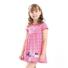 1b1e33d1cb Księżniczka dziewczyny letnie sukienki z aplikacja zwierzęta bawełna nowe  dziewczynek suknie Hot paskiem dzieci słoń odzież