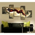 5pcs Unframed oil painting hand painted canvas poster mass effect cuadros de lienzo Decoration for Home office Art Picture