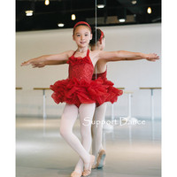 Support Dance Backless Professional Ballet Tutu Dress Kids Adult Dance Costume C227