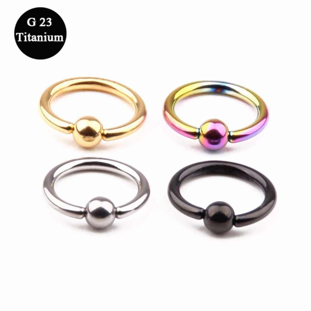 100% Titanium Mix Color Septum Septril Piercing 1.2*8mm Lobe Rings Hoop  Nostril-to-Ear Piercing Steel Body Jewelry