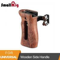 """SmallRig деревянная боковая ручка для универсальной камеры с двумя 1/4 """"резьбовыми отверстиями с 18 мм расстоянием на боковой 2093"""