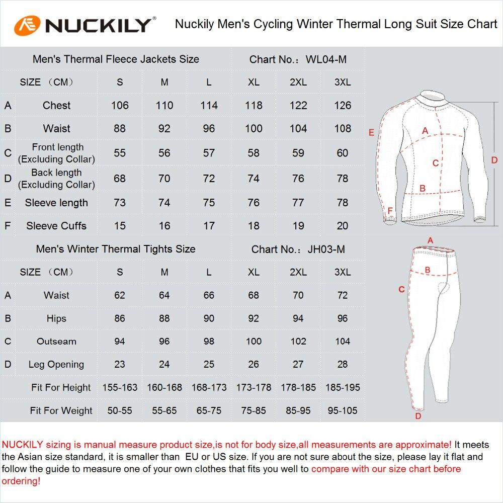 NUCKILY Men's Bicycle Jersey Set Vattentät Vindskyddad Winter Riding - Cykling - Foto 6