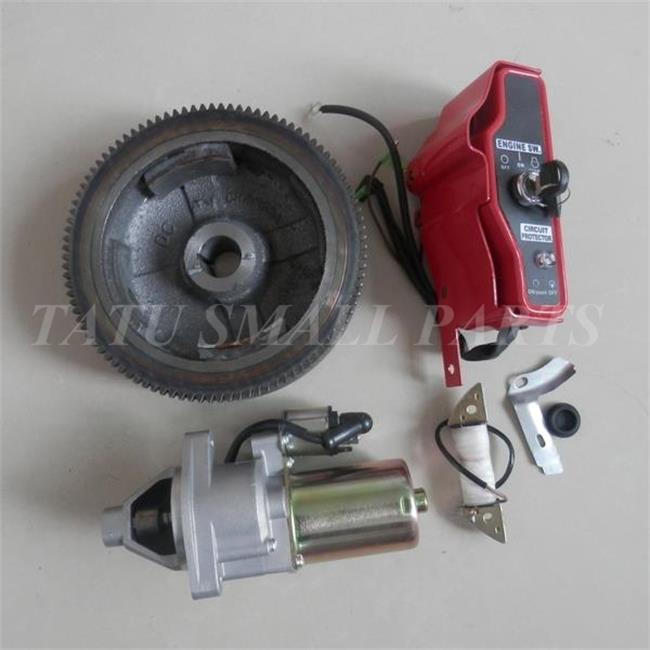 5KW Электрический START KIT для HONDA GX340 GX390 11hp 13hp 6.5KW генератор стартер ключ для двигателя коробка переключения маховик зарядки катушки