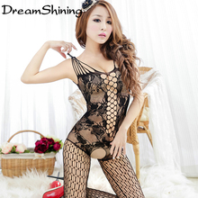 DreamShining Sexy Lingerie Hot Costumes Sexy Dress Underwear Coveralls Stocking font b Sex b font Products