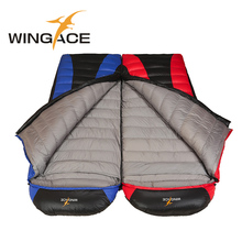 WINGACE Fill 3500G Goose Down Camping Sleeping Bag Winter Hiking Envelope For Tourists Outdoor Recreation 230*80CM