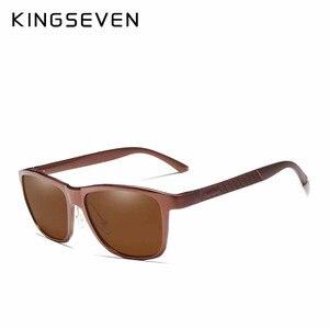 Image 2 - KINGSEVEN Men's Polarized Sunglasses Aluminum Sun Glasses Driving Square Shades Oculos masculino Male Eyewear Goggle