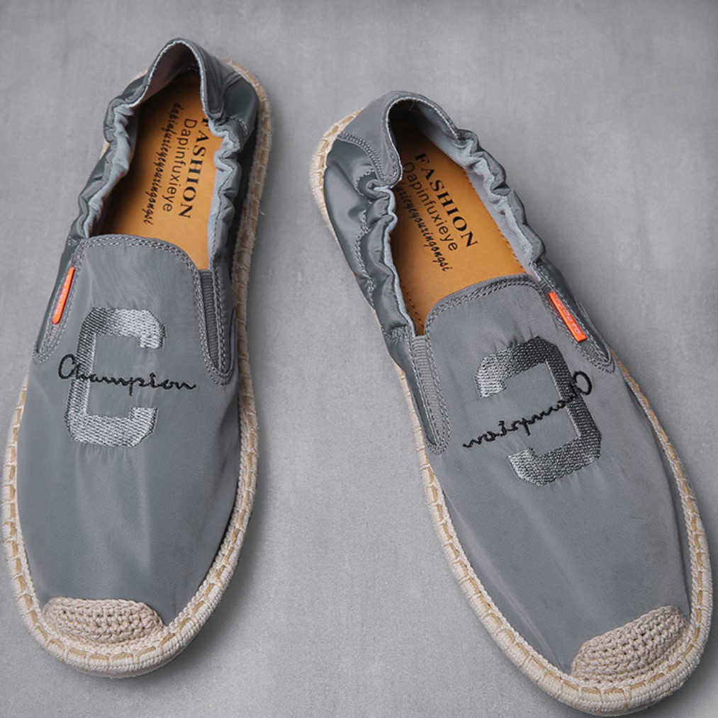 2019 New Arrival Summer Men's Casual Shoes Fashion Flat Fisherman Shoes Men Elastic Contraction Slip-on Loafers Shoes For Male