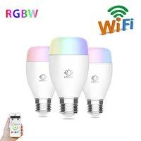E27 многоцветный smart led dimmer лампа внутреннего мобильный телефон беспроводной пульт дистанционного управления свет приложение синхронизации ...