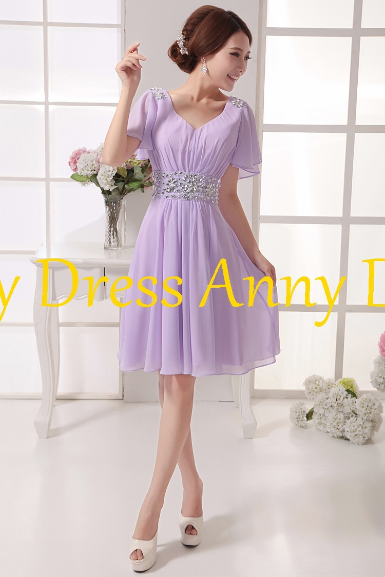 Hot Short Bridesmaid Dress Lavender Dresses 2017 In From Weddings Events On Aliexpress Alibaba Group