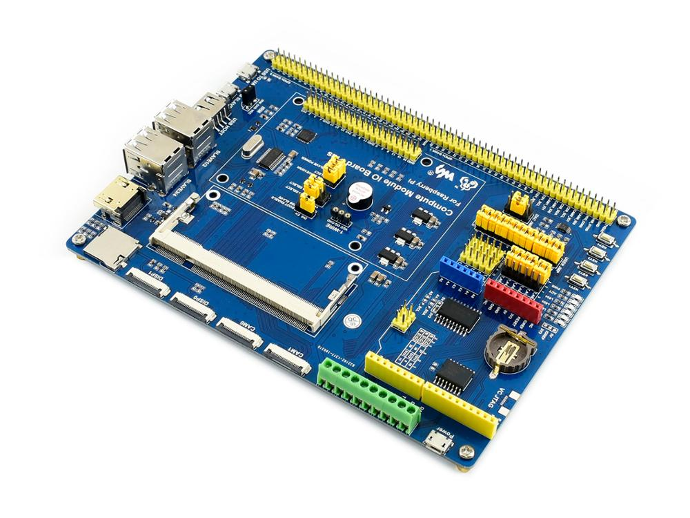 Waveshare Compute Module IO Board Plus Composite Breakout Board for Developing with Raspberry Pi CM3 CM3L