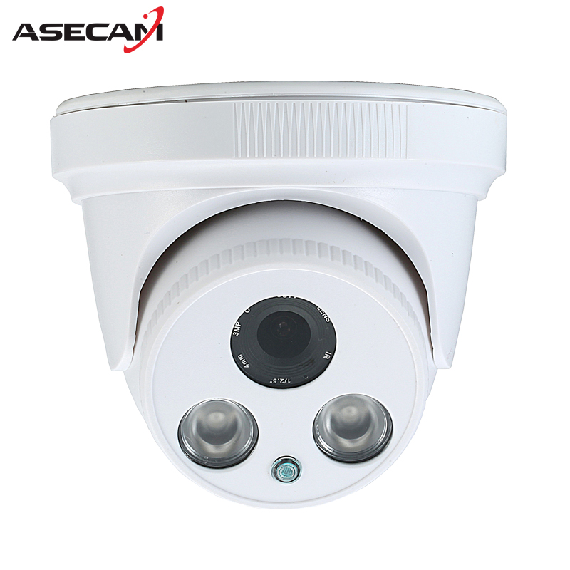 HD 720P IP Camera Onvif White Indoor Dome WebCam 2 array Infrared Night Vision Security Network