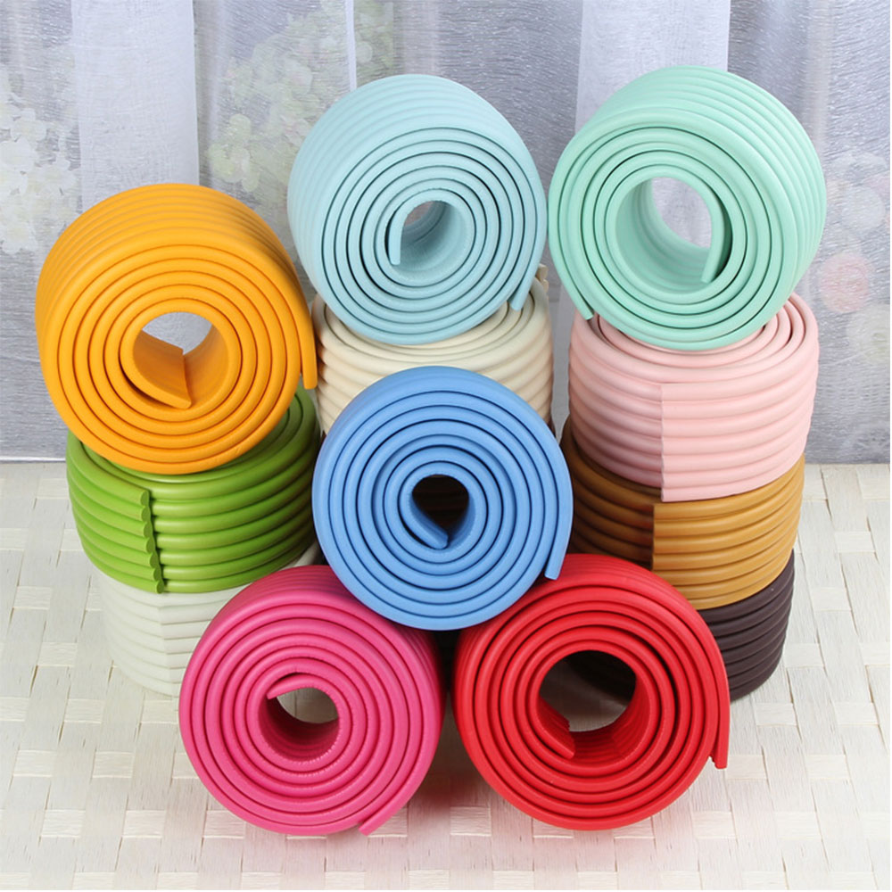 4Pcs 2M Baby Safety Bumper Strip Table Desk Edge Guard Home Cushion Coner Protector Safe Protection W-shape Child Safety Bar