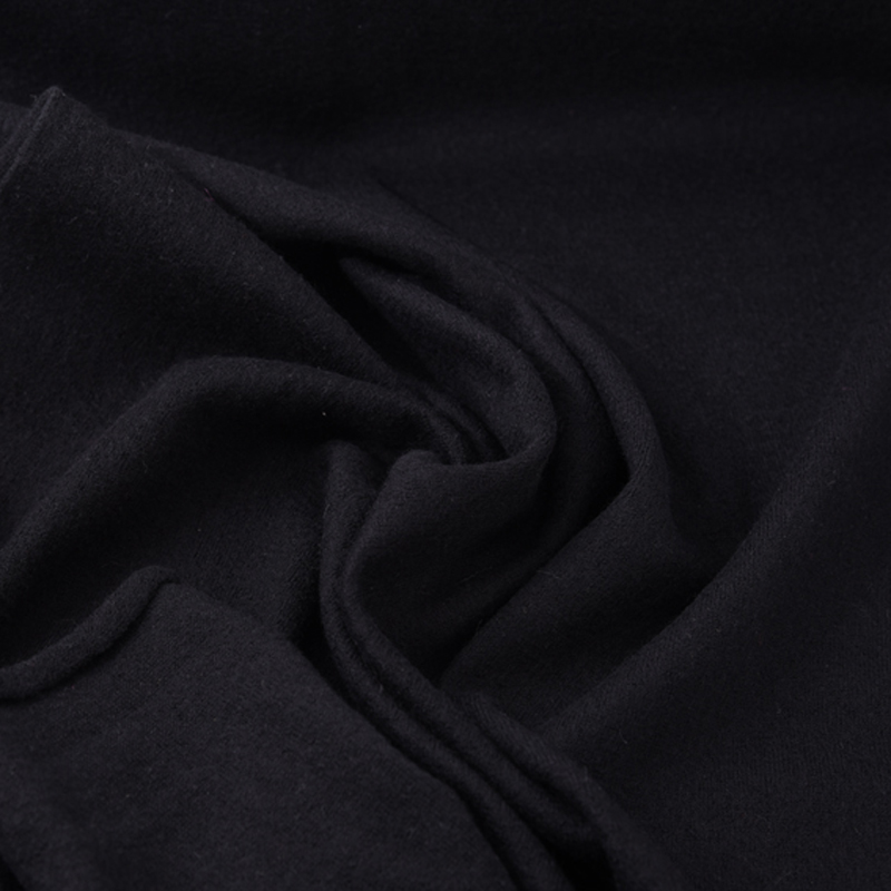 130CM Wide 450G/M Black Knitted Wool Fabric for Autumn Spring Dress Jacket Clothes H234