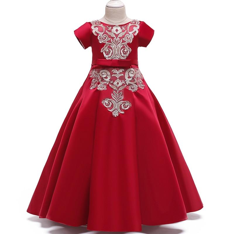 Ladies   dress   children long party   dress     flower     girl     dress   for wedding first communion princess   dress   baby costume tutu clothing