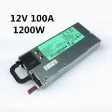 Fuente de alimentación del servidor DL580G7, fuente de alimentación conmutada de 12V, 100A, 490594 W, DPS 1200FB A, HSTNS PL11, 2009 001, 2009 001