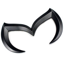 цена на 20pcs Wholesale Black Zinc Alloy Car 3D Emblem M Batman Cool Logo Front Rear Badge Grid Sticker for Modification Mazda logo